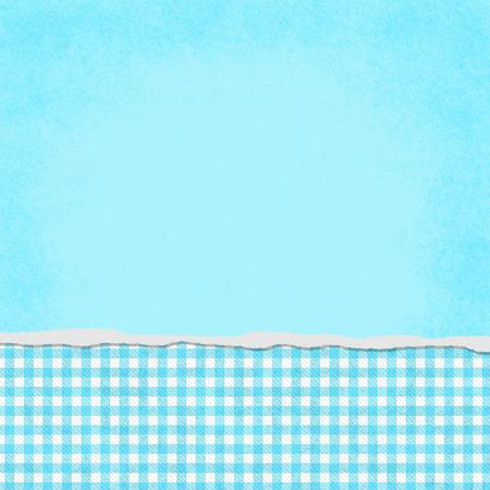 blue: Hình vuông Teal và trắng Gingham Torn Grunge Textured Bối cảnh với không gian sao chép ở đầu Kho ảnh