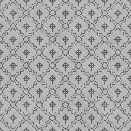 celtic cross: Gray Celtic Cross Symbol Tile Pattern Repeat Background that is seamless and repeats