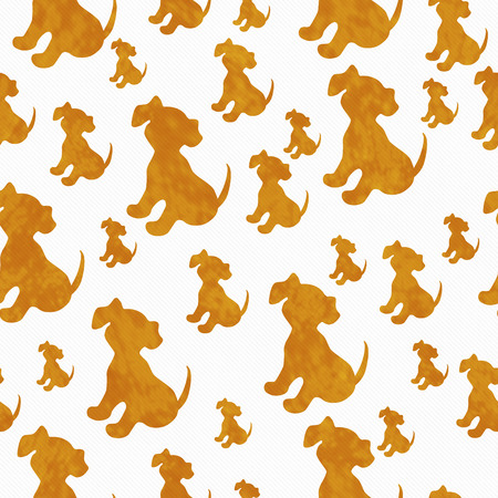 repeats: Orange and White Puppy Dog Tile Pattern Repeat Background that is seamless and repeats
