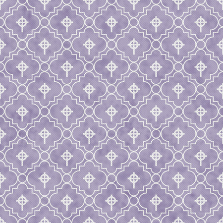 celtic cross: Pale Purple and White Celtic Cross Symbol Tile Pattern Repeat Background that is seamless and repeats