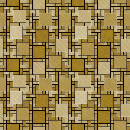 tile background: Gold and Black Square Mosaic Abstract Geometric Design Tile Pattern Repeat Background that is seamless and repeats Stock Photo