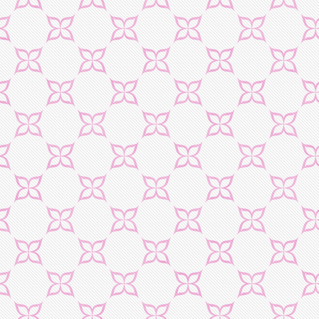 material flower: Pink and White Flower Symbol Tile Pattern Repeat Background that is seamless and repeats Stock Photo