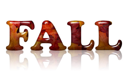 noone: Word Fall in 3D letters made of Orange and Red Fall Leaves