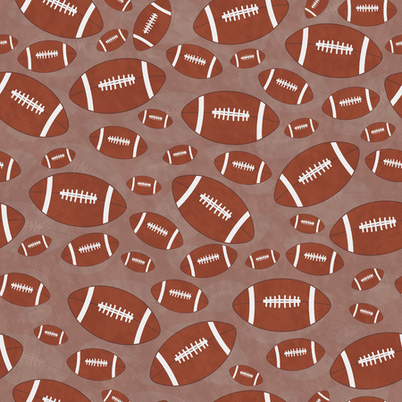 repeats: Brown and White Football Tile Pattern Repeat Background that is seamless and repeats