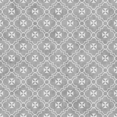 white maltese: Gray and White Maltese Cross Symbol Tile Pattern Repeat Background that is seamless and repeats