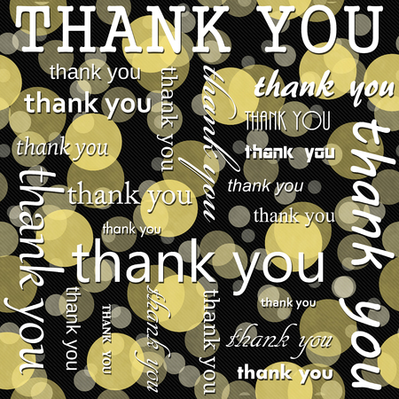 polka dot pattern: Thank You Design with Yellow and Black Polka Dot Tile Pattern Repeat Background that is seamless and repeats