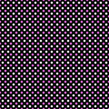 rosa negra: Pink, Black and White Polka Dot Abstract Design Tile Pattern Repeat Background that is seamless and repeats Foto de archivo