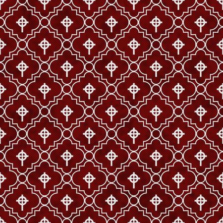 celtic background: Red and White Celtic Cross Symbol Tile Pattern Repeat Background that is seamless and repeats