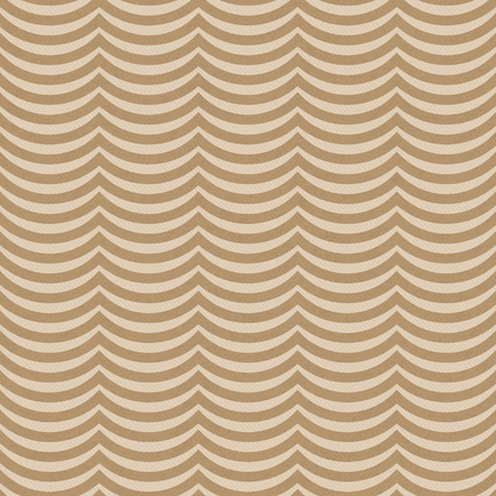 ecru: Brown Wavy Stripes Tile Pattern Repeat Background that is seamless and repeats Stock Photo