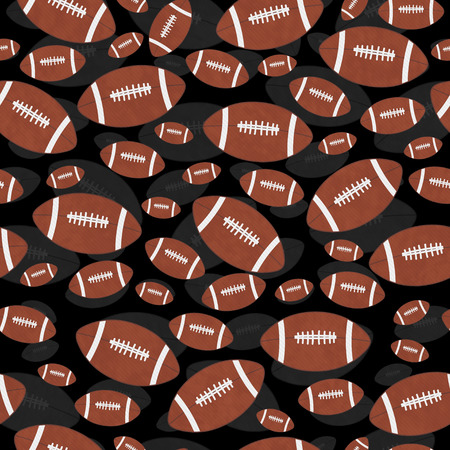 repeat pattern: Brown and Black Football Tile Pattern Repeat Background that is seamless and repeats