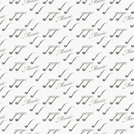 eight note: Gray and White Music Symbol Tile Pattern Repeat Background that is seamless and repeats Stock Photo
