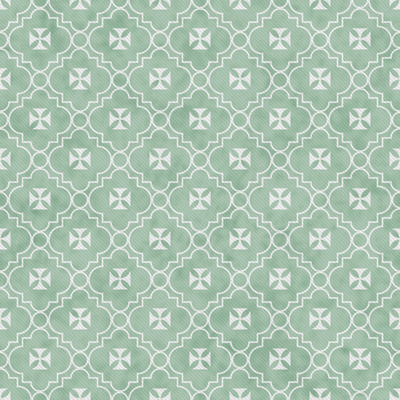 pale green: Pale Green and White Maltese Cross Symbol Tile Pattern Repeat Background that is seamless and repeats