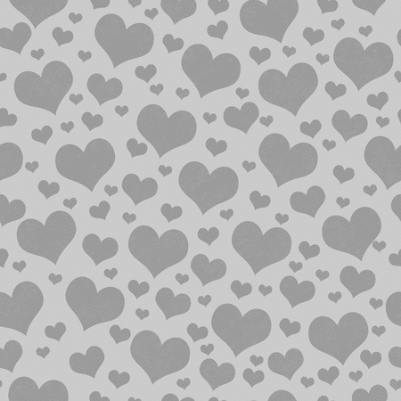 Gray Hearts Tile Pattern Repeat Background that is seamless and repeats Stock fotó