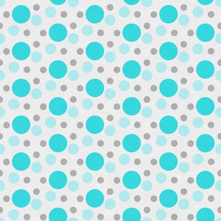 teal background: Teal ,White and Gray Polka Polka Dot Tile Pattern Repeat Background that is seamless and repeats Stock Photo
