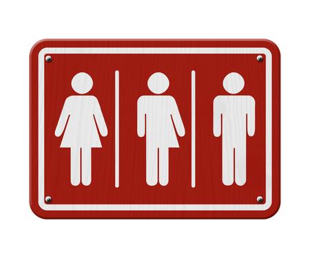 transexual: Transg�nero Signo, rojo y blanco de signo, con una mujer, s�mbolo masculino y transg�nero