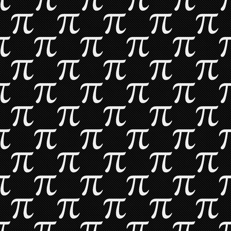 repeat: Black and White Pi Symbol Design Tile Pattern Repeat Background