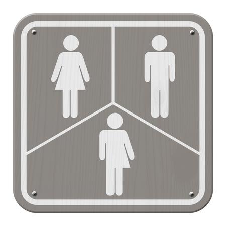 simbolo de la mujer: Gris y blanco, signo de una mujer, símbolo masculino y transgénero Foto de archivo