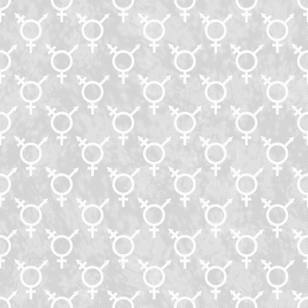 transgender: Gray and White Transgender Symbol Tile Pattern Repeat Background Stock Photo