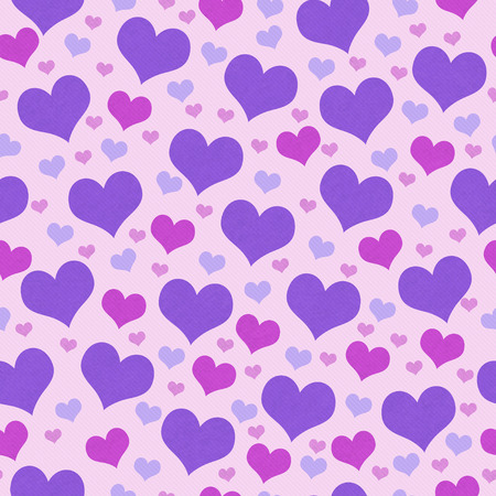 pink wallpaper: Purple and Pink Hearts Tile Pattern Repeat Background