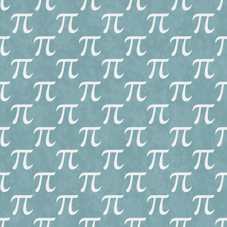 Teal and White Pi Symbol Design Tile Pattern Repeat Background