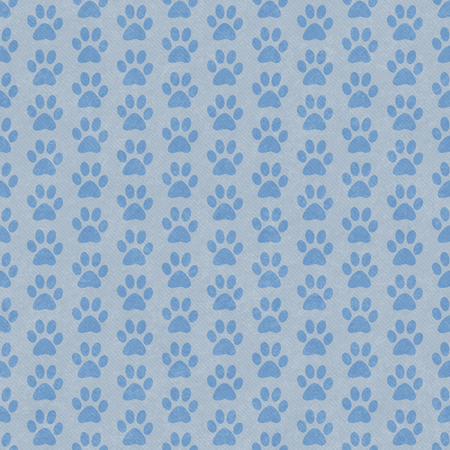 blue grey: Blue and Gray Dog Paw Prints Tile Pattern Repeat Background