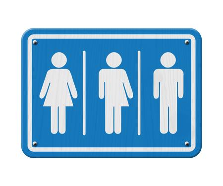transexual: Azul y blanco, signo de una mujer, símbolo masculino y transgénero