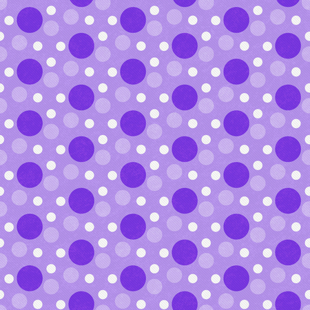 Purple and White Polka Polka Dot Tile Pattern Reklamní fotografie