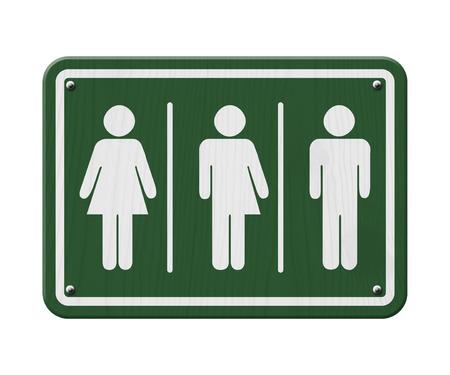 transexual: Transg�nero Signo, verde y blanco de signo, con una mujer, s�mbolo masculino y transg�nero Foto de archivo