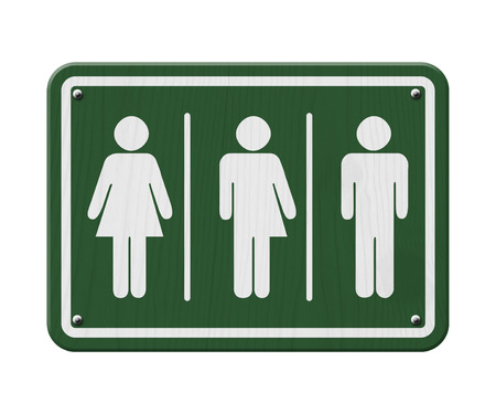 transgender: Transgender Sign, Green and White Sign with a woman, male and transgender symbol Stock Photo