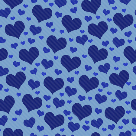 Blue Hearts Tile Pattern Repeat Background that is seamless and repeats
