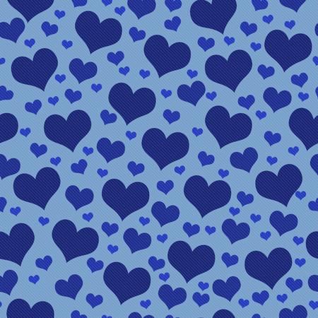 corazones azules: Corazones azules del modelo del azulejo fondo de la repetición que es perfecta y repeticiones