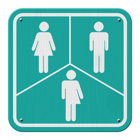 transgender: Transgender Sign, Teal and White Sign with a woman, male and transgender symbol