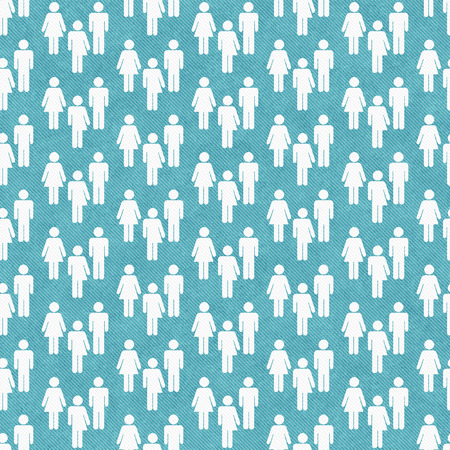 transgender: Teal and White Transgender Man and Woman Symbol Tile Pattern Repeat Background that is seamless and repeats