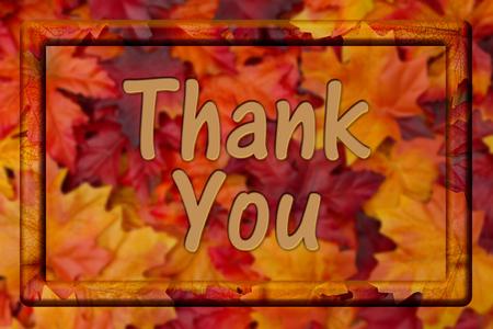 caes: Gracias mensaje, ca�da deja el fondo con el marco y el texto Gracias