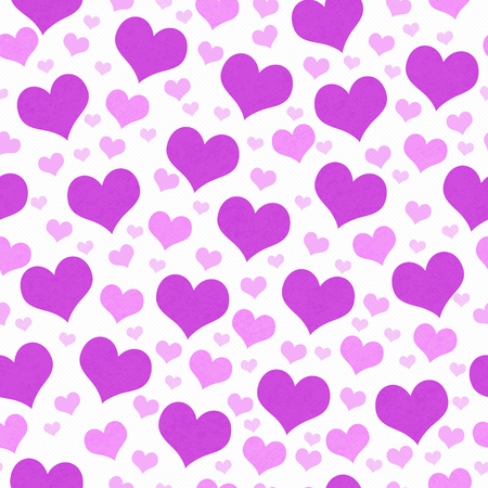 Purple and White Hearts Tile Pattern Repeat Background that is seamless and repeats