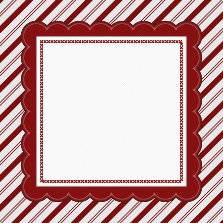 striped background: Red and White Striped Candy Cane Striped with embroidery Background with copy space for your message
