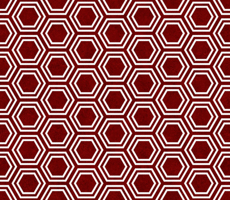 hexagram: Red and White Hexagon Tile Pattern Repeat Background that is seamless and repeats