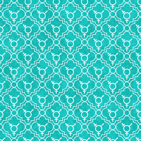 transgender: Teal and White Transgender Symbol Tile Pattern Repeat Background that is seamless and repeats Stock Photo