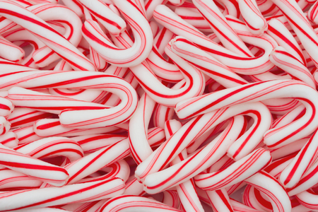 Close-up of  Candy Cane Background
