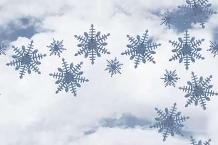 repeatable: Blue Snowflake Tile Pattern Repeat Background that is seamless and repeats