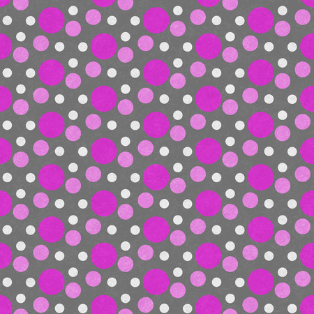 repeats: Pink, White and Gray Polka Dot Tile Pattern Repeat Background that is seamless and repeats