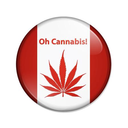 oh: Oh Cannabis Marijuana in Canada Button