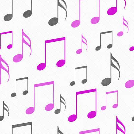 wallpaper vibrant: Pink, White and Gray Music Notes Tile Pattern Repeat Background that is seamless and repeats