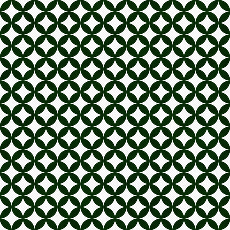 interconnected: Green and White Interconnected Circles Tiles Pattern Repeat Background that is seamless and repeats Stock Photo