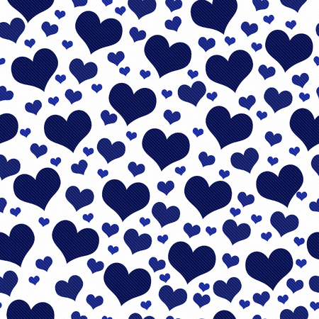 hearts background: Navy Blue and White Hearts Tile Pattern Repeat Background that is seamless and repeats