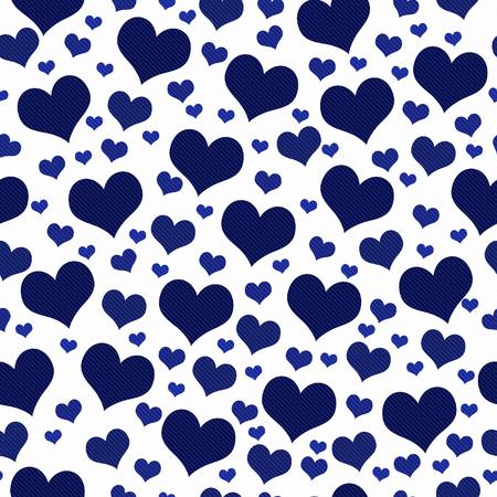 Bleu marine et Blanc Coeurs Tile Motif Repeat fond qui est transparente et répète