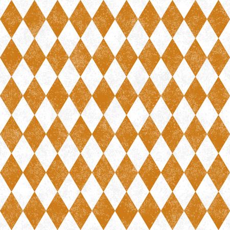 Orange Schmutz-Diamant-Fliesen-Muster Hintergrund wiederholen, die eine nahtlose und Wiederholungen ist Standard-Bild