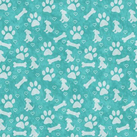 huellas de perro: Sepia y gris del perro de la pata, del perrito, hueso y de los corazones del modelo del azulejo de repetición de fondo que se repite sin fisuras y Foto de archivo