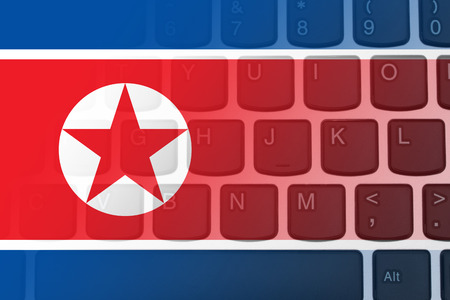 Restricted Internet access in North Korea, The North Korean flag on a computer keyboard