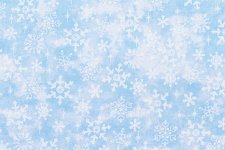 blue border: Christmas Time Background, White snowflakes over a blue with silver glitter background